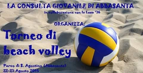 """Sino al 25 Agosto """"tutti pazzi"""" per il Beach Volley al parco di S.Agostino ad Abbasanta"""