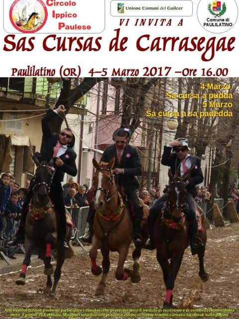 A Paulilatino fine settimana con le spettacolari pariglie del carnevale a cavallo